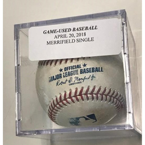 Photo of Game-Used Baseball: Whit Merrifield Single