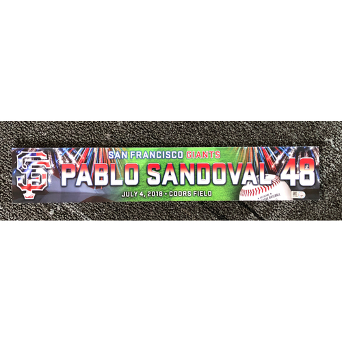 Photo of San Francisco Giants - 2018 Stars & Stripes Locker Name Plate - #48 Pablo Sandoval