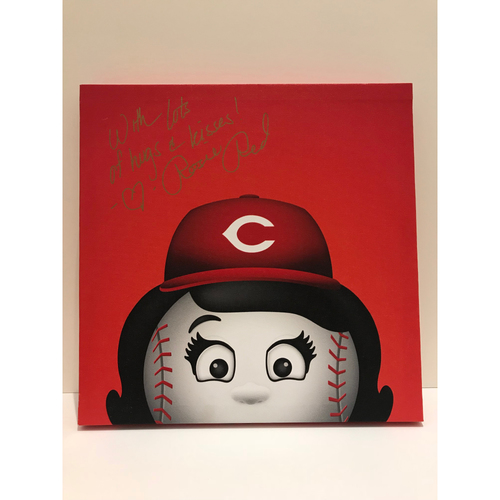 Photo of Autographed Rosie Red Canvas Print - Reds