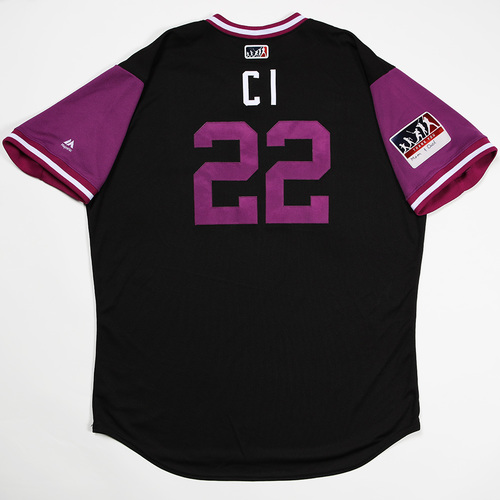 "Photo of Chris ""CI"" Iannetta Colorado Rockies Game-Used 2018 Players' Weekend Jersey"