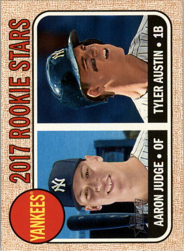 Photo of 2017 Topps Heritage #214A Aaron Judge RC/Tyler Austin Rookie Card