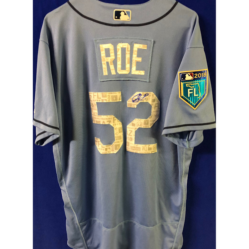 Photo of 2018 Spring Training Team-Issued Autographed Jersey: Chaz Roe
