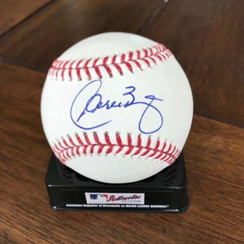 Photo of UMPS CARE AUCTION: Baseball Signed by Two Original Washington Nationals (Jose Vidro and Carlos Baerga)