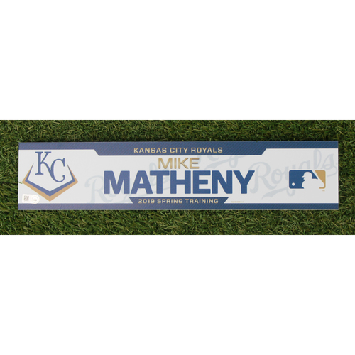 Team-Issued Spring Training Locker Tag: Mike Matheny