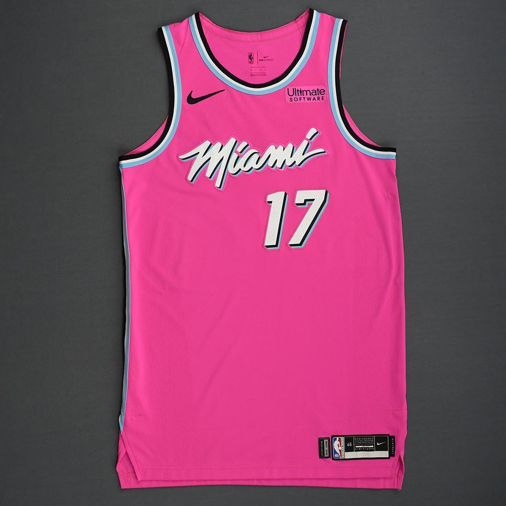 Rodney McGruder - Miami Heat - 2018-19 Season - Game-Worn Pink Earned Edition Jersey