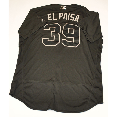 "Photo of Oliver ""El Paisa"" Perez Cleveland Indians Game-Used 2019 Players' Weekend Jersey"