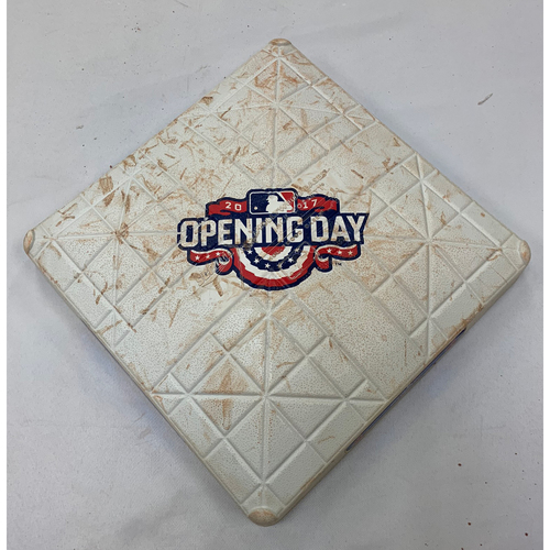 Photo of Pittsburgh Pirates vs Boston Red Sox April 3, 2017 Game Used 2nd Base - 5th and 6th innings