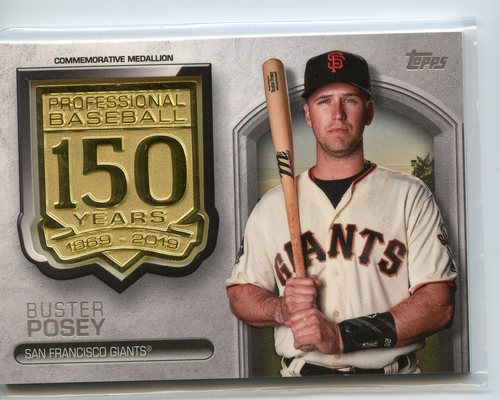 Photo of 2019 Topps 150th Anniversary Manufactured Medallions #AMMBP Buster Posey