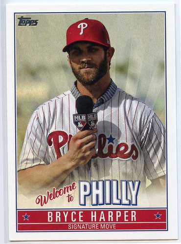 Photo of 2019 Topps Update Bryce Harper Welcome to Philly #BH10 Bryce Harper