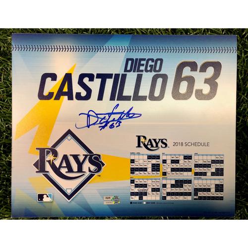 Photo of Game Used Locker Tag: Diego Castillo - Rookie Season - September 27, 2018 v NYY