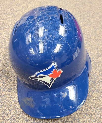 Photo of Authenticated Team Issued Helmet: #23 Dalton Pompey (2018 Season). Size 7 3/8.