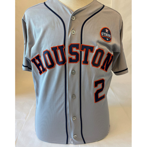 Photo of Alex Bregman Game-Used Jersey - 2017 World Series Game 1