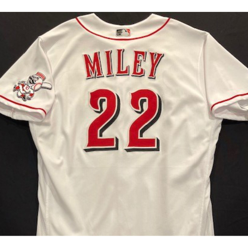 Photo of Wade Miley -- 2020 Home White Jersey -- Team Issued -- Size 48