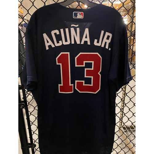 2020 Ronald Acuna Jr. Game Used Spring Training Jersey - 2/22/20 vs. BAL