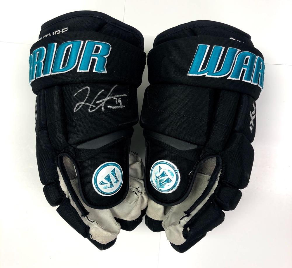 #39 Logan Couture Game Used Gloves - San Jose Sharks