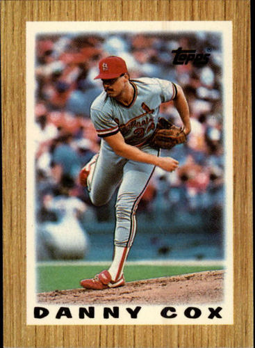 Photo of 1987 Topps Mini Leaders #33 Danny Cox