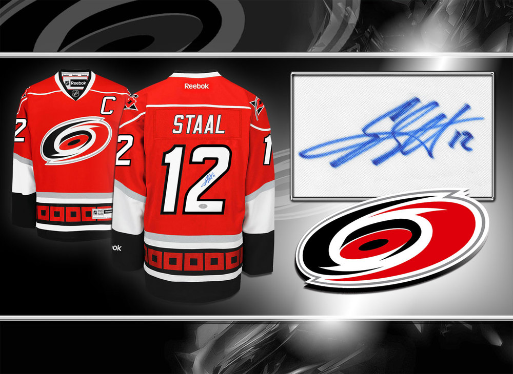 Eric Staal Carolina Hurricanes RBK Premier Autographed Jersey