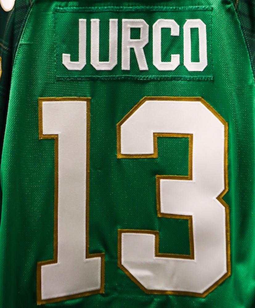 #13 - Tomas Jurco Autographed Authentic St. Patrick's Day Jersey