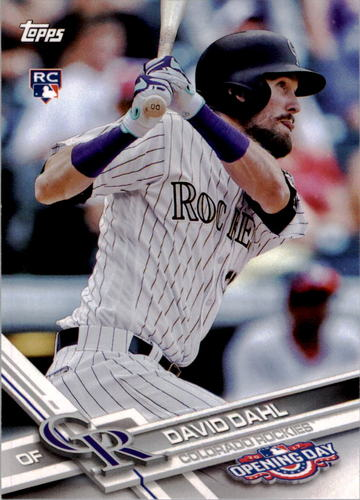 Photo of 2017 Topps Opening Day #126 David Dahl RC