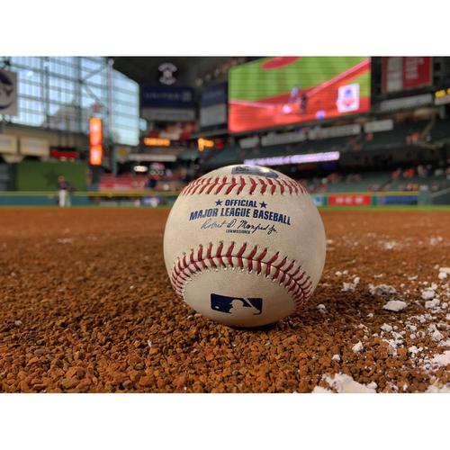 Game-Used Baseball: Walk-off Single by Juan Centeno on 8/6/17