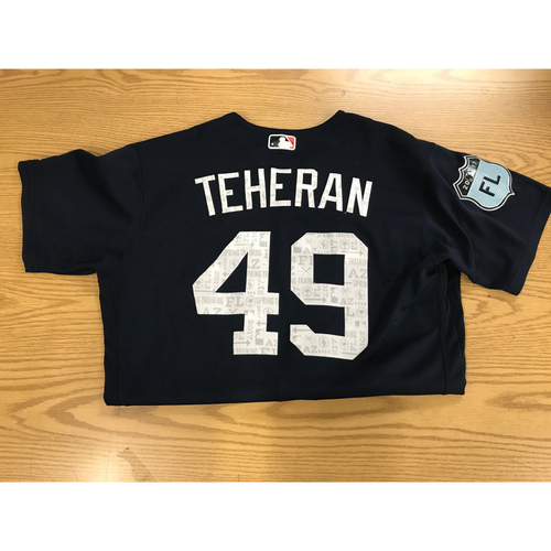 Photo of Julio Teheran Game-Used 2017 Spring Training Jersey - Worn At SunTrust Park March 31, 2017