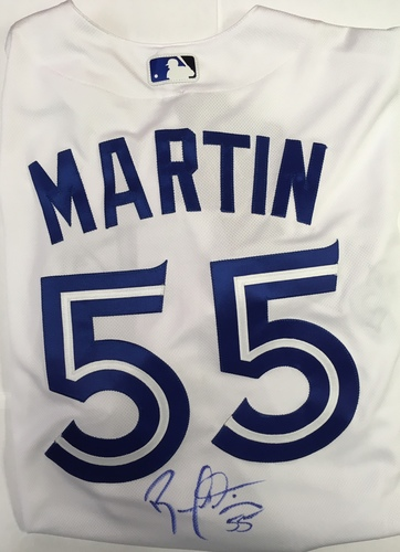 Russell Martin Autographed Authentic Blue Jays Jersey