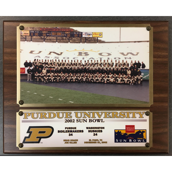 Photo of 2002 Purdue University Sun Bowl Champions Plaque