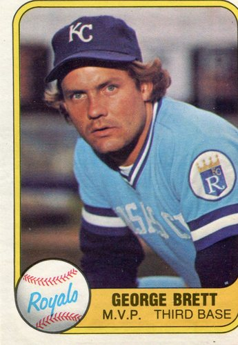 Photo of 1981 Fleer #28 George Brett Hall of Fame Class of 1999