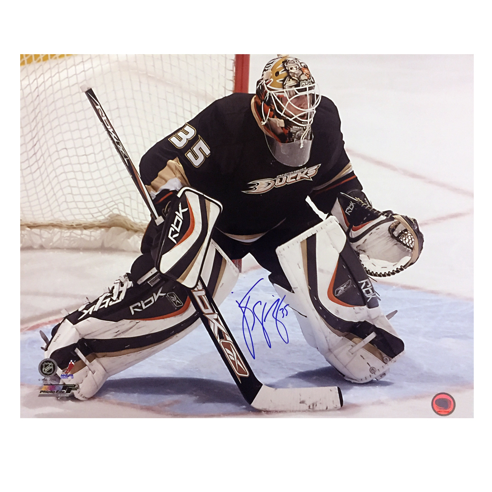 J.S. GIGUERE Signed Anaheim Ducks 16 X 20 Photo - 79110