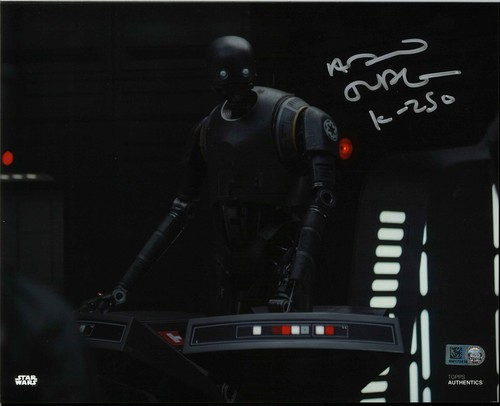 Alan Tudyk As K-2SO 8X10 Autographed in Silver Ink Photo