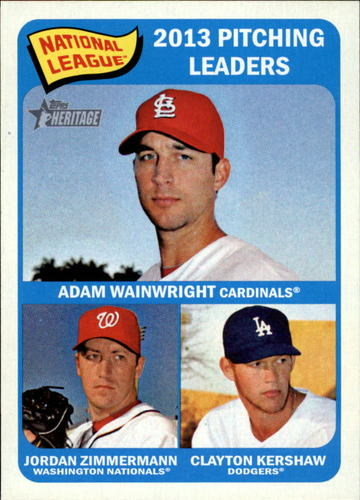 Photo of 2014 Topps Heritage #10 Clayton Kershaw/Jordan Zimmermann/Adam Wainwright