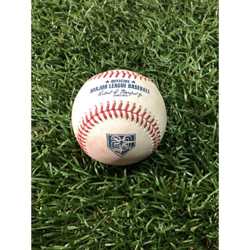 20th Anniversary Game Used Autographed Baseball: Tyler Glasnow strikes out Josh Donaldson - September 11, 2018 v CLE