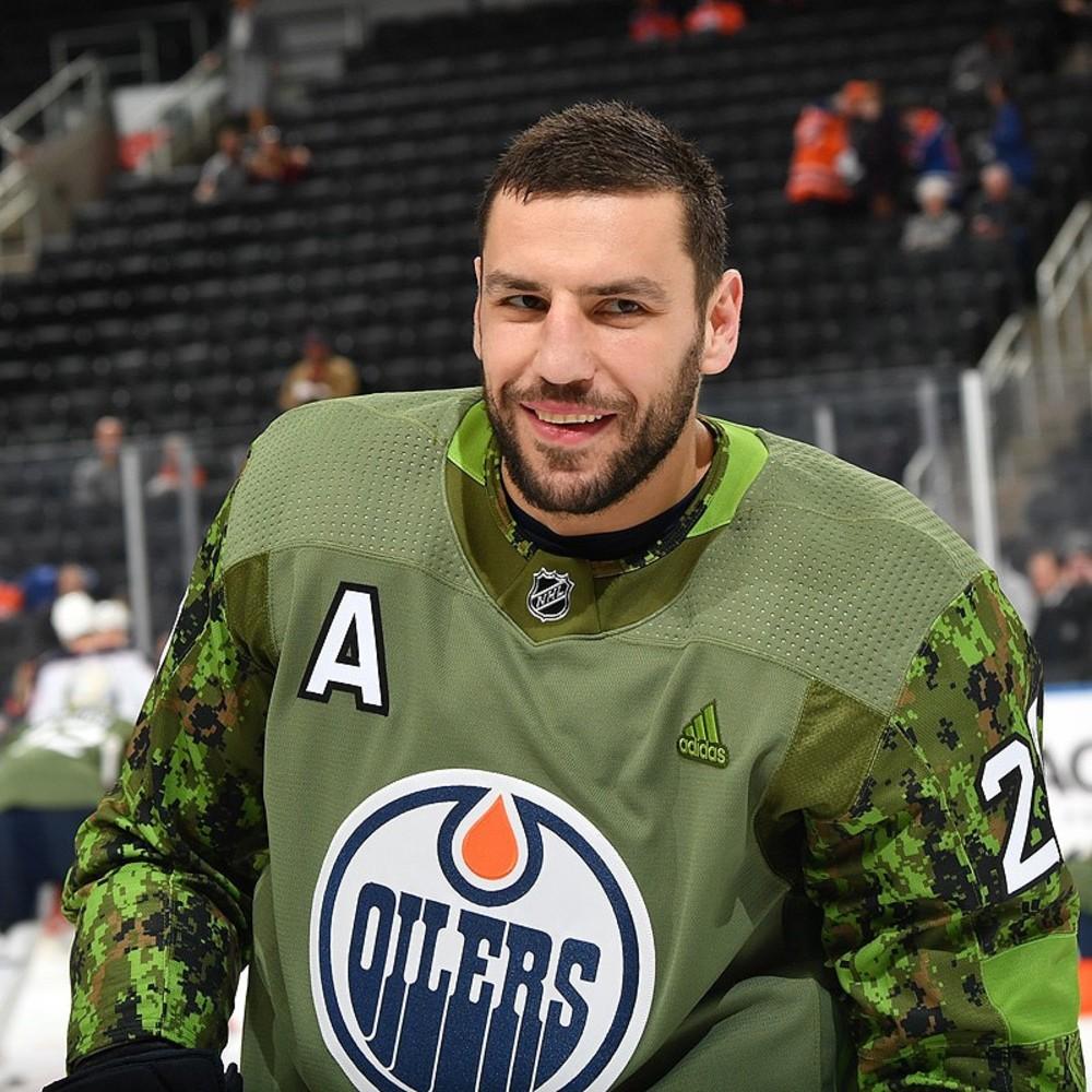 best website 36f11 0d8a3 Milan Lucic #27 - Autographed 2018-19 Edmonton Oilers Pre ...