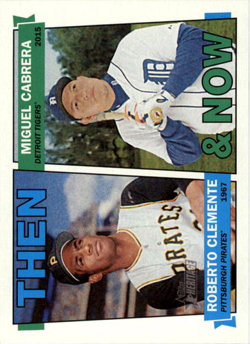 Photo of 2016 Topps Heritage Then and Now #TANCC Miguel Cabrera/Roberto Clemente