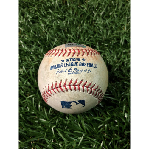 Photo of Game Used Baseball: Rafael Devers single and Xander Bogaerts walk off Diego Castillo - July 23, 2019 v BOS