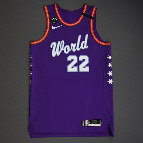 Image of Deandre Ayton - 2020 NBA Rising Stars - Team World - Game-Issued 1st Half Jersey