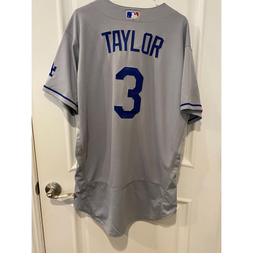 Photo of Chris Taylor Authentic Game-Used Jersey from 8/16/20 Game vs LAA - Size  46