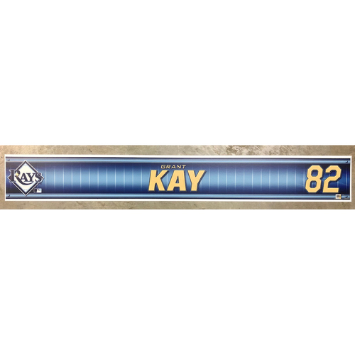Photo of Rays Baseball Foundation: Team Issued Locker Tag