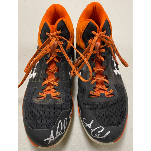Photo of 2020 Cyber Monday Sale - #65 Sam Coonrod Autographed Black & Orange Under Armour Cleats - Size 13