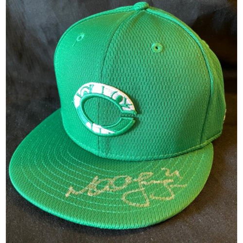 Photo of Michael Lorenzen -- 2021 St. Patrick's Day Cap (Cap & Autograph NOT MLB Authenticated) -- Size 7 1/8