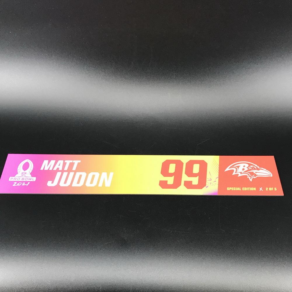 NFL - Ravens Matt Judon 2021 Pro Bowl Locker Nameplate Special Edition #2 of 5