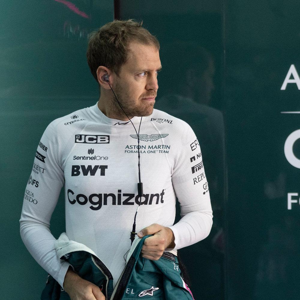 Sebastian Vettel 2021 Framed Signed Race-worn Nomex - Spanish GP