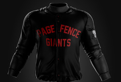 Photo of Lansing Lugnuts game worn Page Fence Giants jerseys #16, Charles Hall, Large