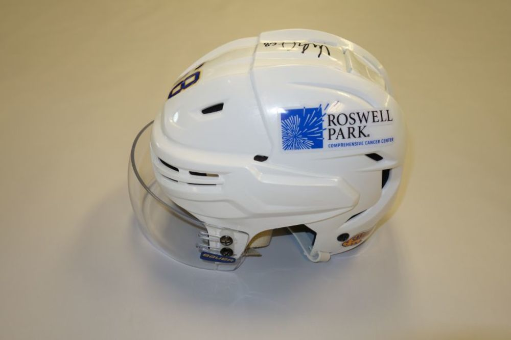Victor Olofsson 2020-21 Autographed Game-Used Helmet