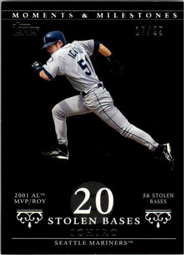 Photo of 2007 Topps Moments and Milestones Black #9-20 Ichiro Suzuki/SB 20