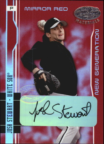 Photo of 2003 Leaf Certified Materials Mirror Red Autographs #244 Josh Stewart NG/100