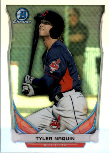 Photo of 2014 Bowman Chrome Draft Top Prospects Refractors #CTP88 Tyler Naquin
