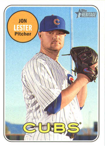 Photo of 2018 Topps Heritage #43 Jon Lester