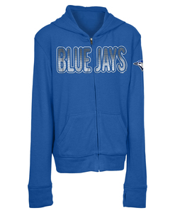 Toronto Blue Jays Youth Brushed Sweater Knit Full Zip Hoody by New Era