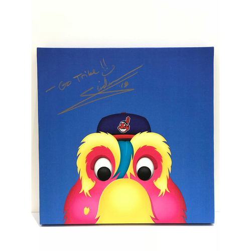 Photo of Autographed Slider Canvas Print - Indians